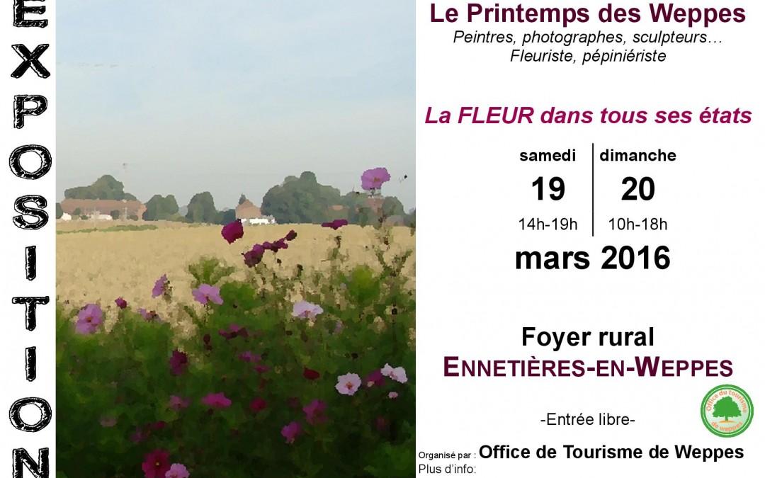 Exposition peinture organisée par l'Office du Tourisme des Weppes
