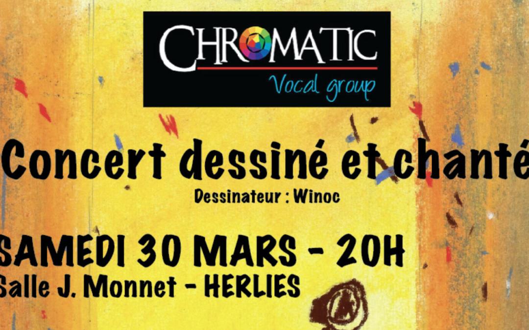 Soirée Chromatic : concert dessiné et chanté à Herlies !