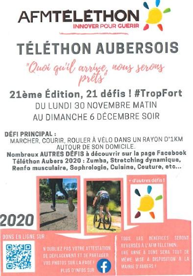 Téléthon Aubers